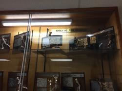 Nancy (Backman) Nelson memorial trophy case