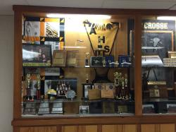 One of many trophy cases